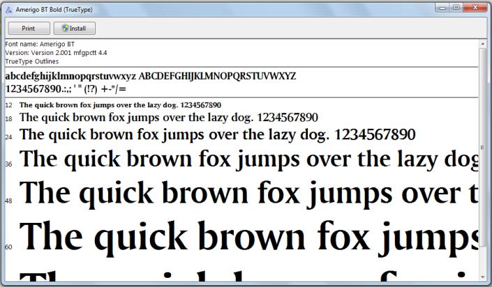 install font w7